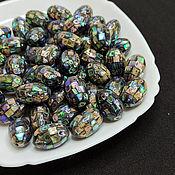Материалы для творчества handmade. Livemaster - original item Haliotis Paua Beads Mosaic Oval 21h14mm. Handmade.