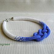 Украшения handmade. Livemaster - original item Harness beaded Violet. Handmade.