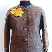 Одежда ручной работы. Ярмарка Мастеров - ручная работа Лёгкое валяное пальто, 58 размер.. Handmade.