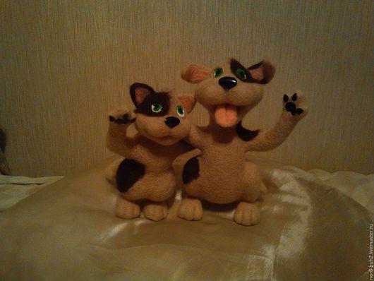 Игрушки животные, ручной работы. Ярмарка Мастеров - ручная работа. Купить Игрушки. Handmade. Комбинированный, чубрик влюбленный, мех искусственный