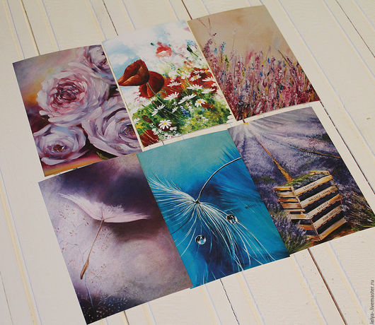 Открытки на все случаи жизни ручной работы. Ярмарка Мастеров - ручная работа. Купить Набор открыток 11. Handmade. Комбинированный, открытки