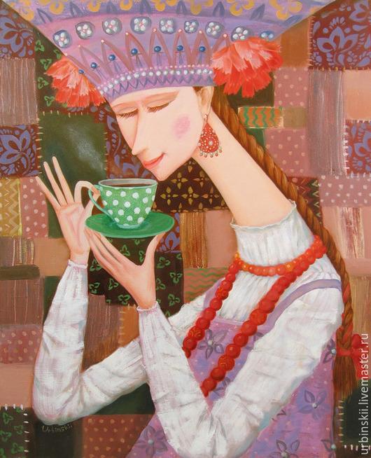 Люди, ручной работы. Ярмарка Мастеров - ручная работа. Купить Чаек. Handmade. Разноцветный, красный, чай, урбинский, русский стиль