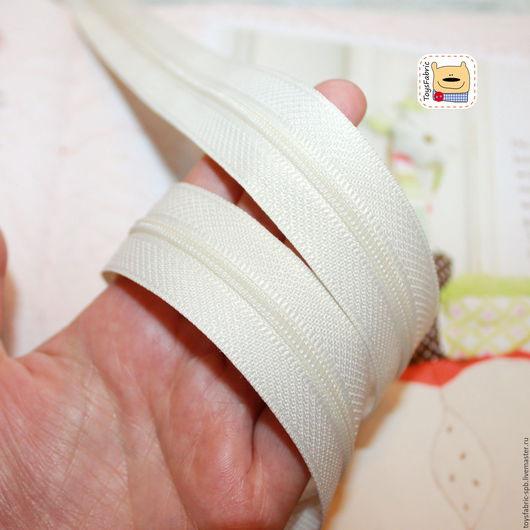 Шитье ручной работы. Ярмарка Мастеров - ручная работа. Купить Молния рулонная витая (T3) молочная RZPT3-1 (90 см). Handmade.