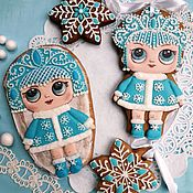 Сувениры и подарки handmade. Livemaster - original item Gingerbread snow maiden . The carrot for the New Year. Gingerbread for girls. Handmade.