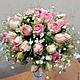Нежный небольшой букет на портбукетнице с маленькими розочками, гипсофилой и бусинами для романтичной натуры 1800 руб Около 15 см в высоту
