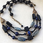 Украшения handmade. Livemaster - original item Necklace with lapis lazuli and kyanite.. Handmade.
