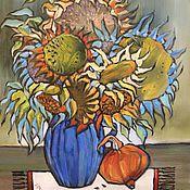 """Картины и панно ручной работы. Ярмарка Мастеров - ручная работа масло """"Дачный букет"""". Handmade."""