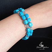 Украшения handmade. Livemaster - original item Turquoise bracelet with blue topaz