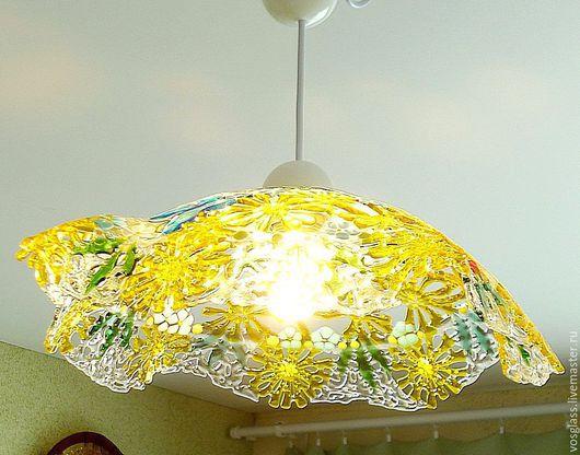 """Освещение ручной работы. Ярмарка Мастеров - ручная работа. Купить Ажурный светильник """"А хотите кусочек лета?!!"""" стекло фьюзинг. Handmade."""