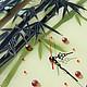 """Часы для дома ручной работы. Часы+панно """"Бамбуковый рай"""". Лариса Beatriche. Интернет-магазин Ярмарка Мастеров. Бамбук, оформление интерьера"""