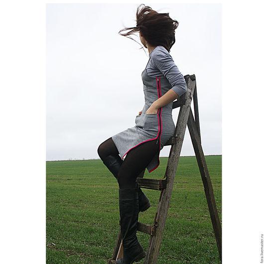 Платья ручной работы. Ярмарка Мастеров - ручная работа. Купить Платье серое, джерси. Handmade. Серый, сарафан, классное платье