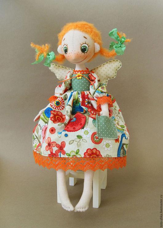 Коллекционные куклы ручной работы. Ярмарка Мастеров - ручная работа. Купить Веснушка - маленькая фейка. Handmade. Рыжий, веснушки, яркая
