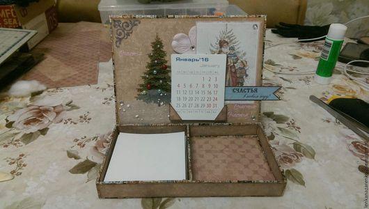 Календари ручной работы. Ярмарка Мастеров - ручная работа. Купить Календарь-органайзер. Handmade. Подарок, блок для записей, бумага для скрапбукинга