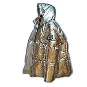 Одежда handmade. Livemaster - original item Silver down jacket with a hood. Handmade.