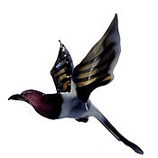 Для дома и интерьера handmade. Livemaster - original item Interior hanging decoration stained glass bird Magpie Potin. Handmade.