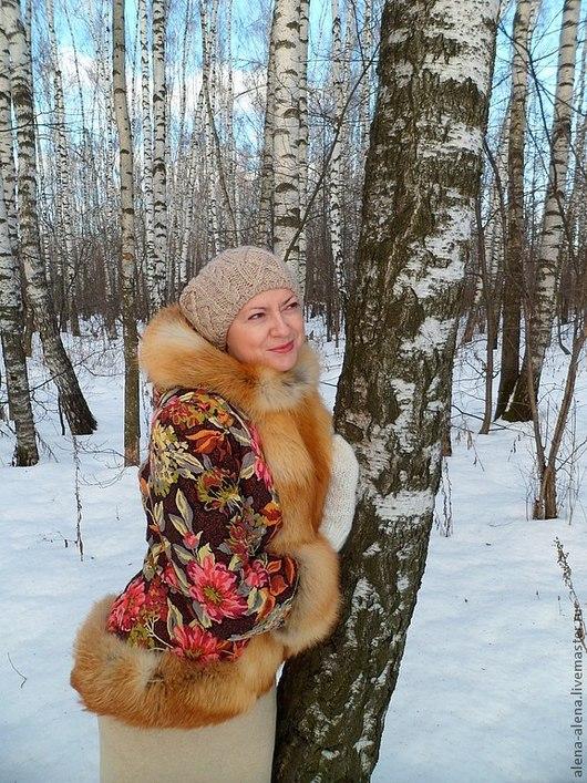 """Верхняя одежда ручной работы. Ярмарка Мастеров - ручная работа. Купить Зимнее пальто """"Чародейка"""".. Handmade. Цветочный, мех лисы"""
