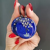 Earrings handmade. Livemaster - original item Blue earrings with forget-me-not flowers. Handmade.