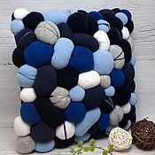 Для дома и интерьера handmade. Livemaster - original item Decorative pillow Stones in blue tones. Handmade.