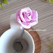 Посуда ручной работы. Ярмарка Мастеров - ручная работа Вкусная/цветочная ложечка. Handmade.