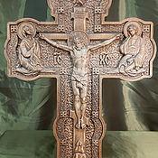 Иконы ручной работы. Ярмарка Мастеров - ручная работа Резной крест распятие из дерева. Handmade.
