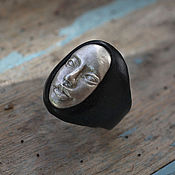 Украшения handmade. Livemaster - original item The Silver Angel ring sterling Silver ring with face. Handmade.