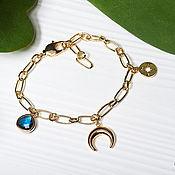 Украшения handmade. Livemaster - original item Gold-plated amulet bracelet