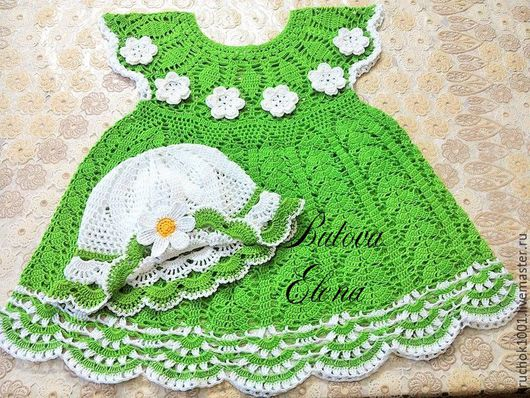 """Одежда для девочек, ручной работы. Ярмарка Мастеров - ручная работа. Купить Платье и панамка """"Лесная фея"""". Handmade. Ярко-зелёный"""