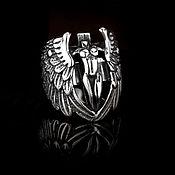 """Украшения handmade. Livemaster - original item Ring of steel """"Guardian Angel"""". Handmade."""