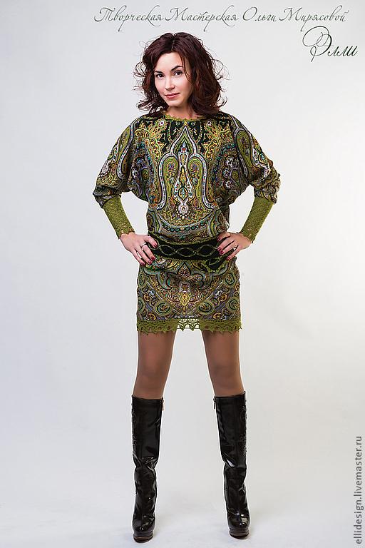 """Платья ручной работы. Ярмарка Мастеров - ручная работа. Купить Платье """"Лесная нимфа"""". Handmade. Орнамент, нарядное платье"""