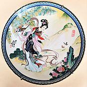 Винтаж handmade. Livemaster - original item Collectible plate Lady with fan Jingdezhen China 1985. Handmade.