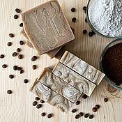 Мыло ручной работы. Ярмарка Мастеров - ручная работа Натуральное мыло с кофе и каолином. Handmade.