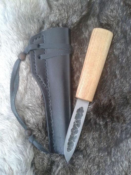 Оружие ручной работы. Ярмарка Мастеров - ручная работа. Купить Нож якутского типа. Handmade. Нож якутского типа, кожа