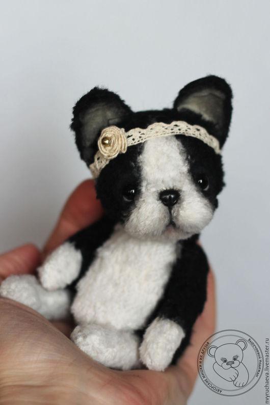 Мишки Тедди ручной работы. Ярмарка Мастеров - ручная работа. Купить Бэкки. Handmade. Чёрно-белый, вискоза Германия