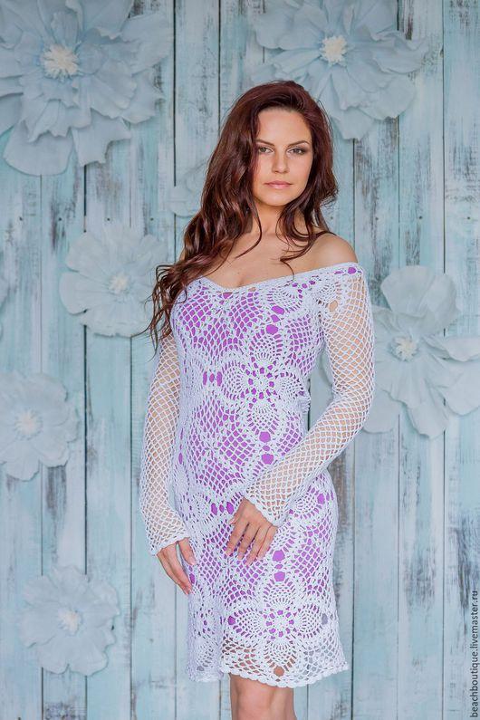 """Платья ручной работы. Ярмарка Мастеров - ручная работа. Купить Платье""""Анис"""". Handmade. Белый, хлопок мерсеризованный"""