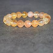 Украшения handmade. Livemaster - original item Bracelet natural stone citrine cut. Handmade.