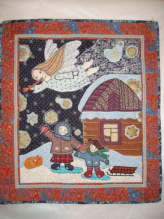 """Детская ручной работы. Ярмарка Мастеров - ручная работа. Купить панно """" В небе ангел пролетал"""".. Handmade. рождество"""
