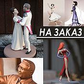 Сувениры и подарки handmade. Livemaster - original item Figurine, figurine as a gift to order, portrait figurines. Handmade.