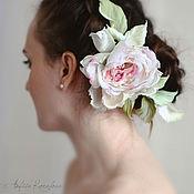Свадебный салон ручной работы. Ярмарка Мастеров - ручная работа Цветы для свадебной прически.Роза из шелка.. Handmade.