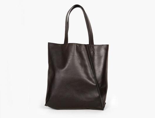 """Женские сумки ручной работы. Ярмарка Мастеров - ручная работа. Купить Кожаная черная сумка шоппер """"Мэри Энн Блэк"""" ручной работы. Handmade."""