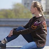 """Одежда ручной работы. Ярмарка Мастеров - ручная работа пуловер валяный джемпер мериносовый свитер шерстяной""""Крылья бабочек"""". Handmade."""