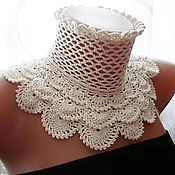 "Аксессуары handmade. Livemaster - original item Lace collar ""Web of Love."" Author`s work. Exclusive!. Handmade."