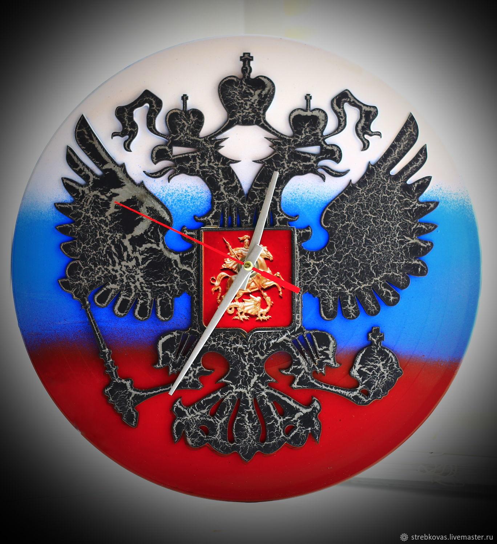 "Wall Clock ""coat of arms"", Watch, Krasnoyarsk,  Фото №1"