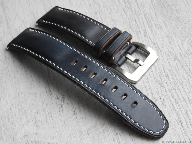 Ремешок для часов из лошадиной кожи 24мм, Часы, Москва, Фото №1
