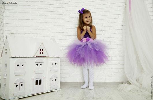 """Одежда для девочек, ручной работы. Ярмарка Мастеров - ручная работа. Купить Платье """"Южные сны"""". Handmade. Фиолетовый, платье"""