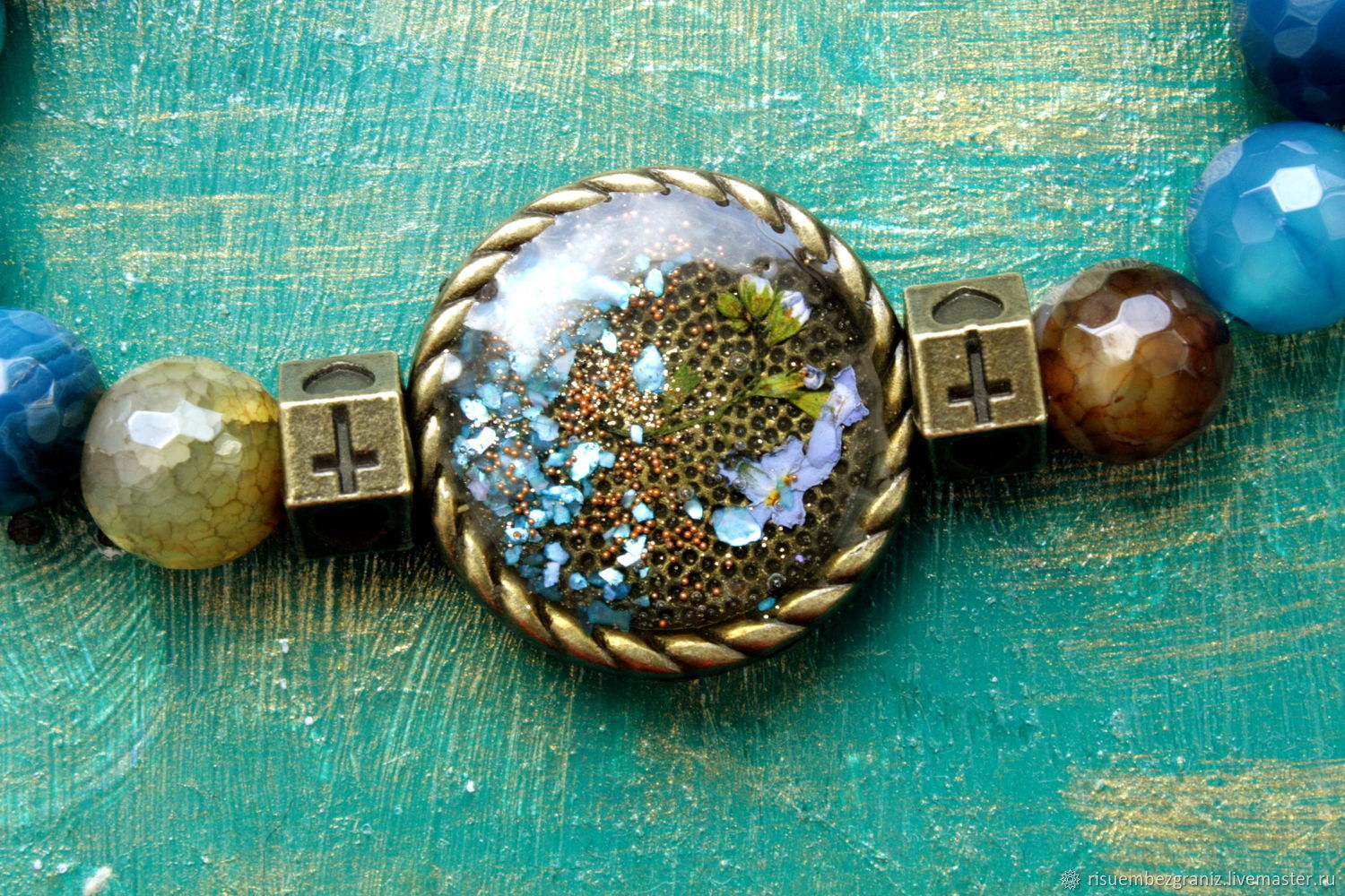 Water and sand, Bead bracelet, Moscow,  Фото №1