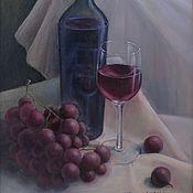 Картины и панно ручной работы. Ярмарка Мастеров - ручная работа Голландский натюрморт маслом Вино и виноград. Handmade.