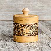 Для дома и интерьера handmade. Livemaster - original item Box of birch bark rose8h8 cm. Jar for storage, a gift for mom. Handmade.