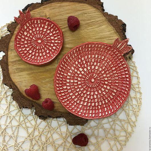 Тарелки ручной работы. Ярмарка Мастеров - ручная работа. Купить Набор тарелочек. Handmade. Комбинированный, гранат, посуда ручной работы