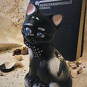 Для дома и интерьера ручной работы. Ярмарка Мастеров - ручная работа Чарли (котик, керамика). Handmade.