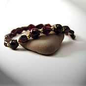Украшения handmade. Livemaster - original item Bracelet Garnet shield from natural pomegranate.. Handmade.